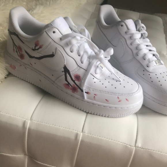 Nike men's size 8 Air Force Ones cherry blossom